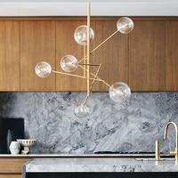 Nordic Postmodern Minimalist Restaurant Pendant Light Living Room Bar Concise Magic Beans Glass Italy Designer Hanging Light