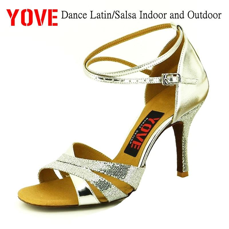 YOVE Style w121-63 Kasut tarian Latin / Salsa Kasut Tarian Wanita - Kasut