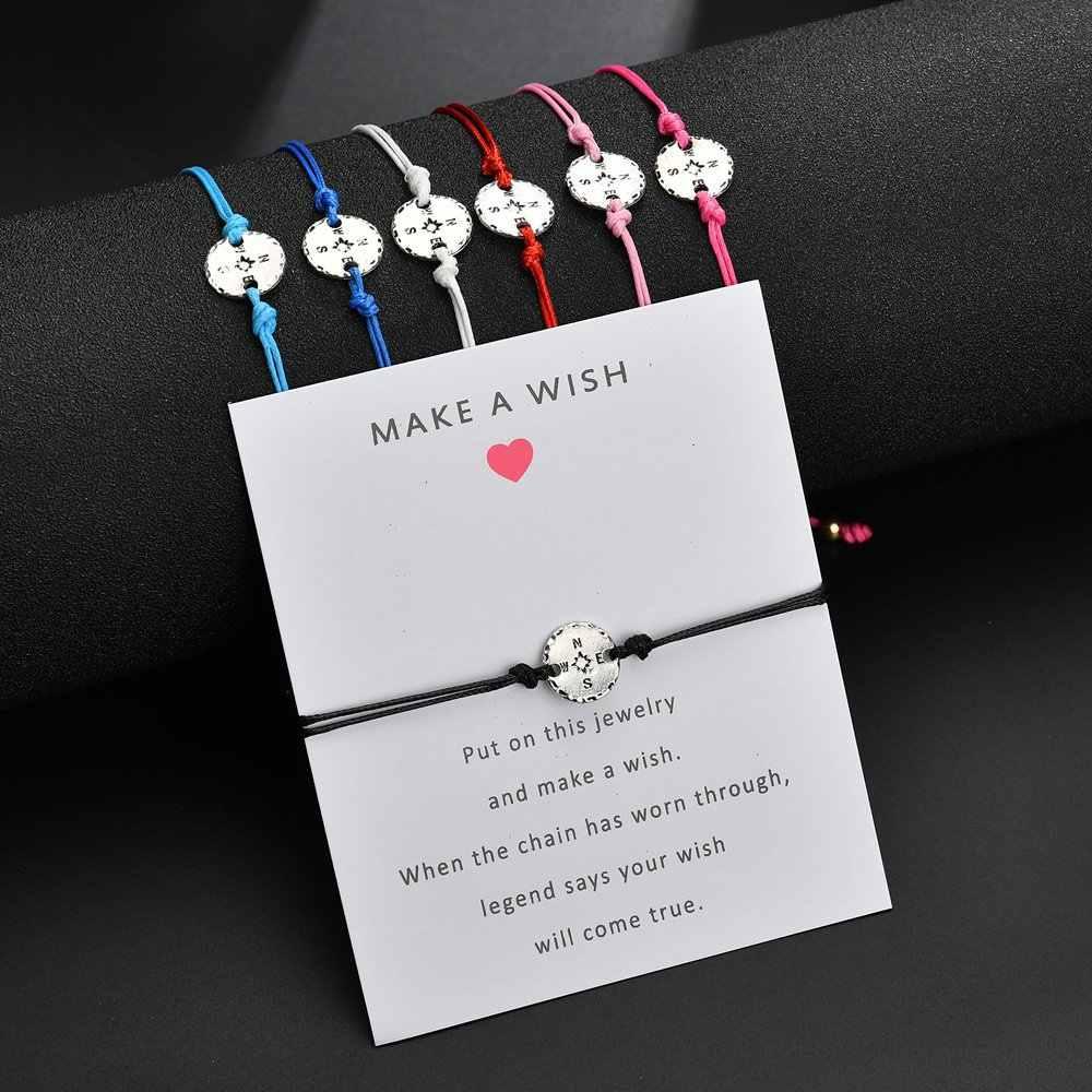 Flamingo drzewo życia kompas uroku bransoletki dla kobiet mężczyzn dzieci szczęście czerwony ciąg bransoletki przyjaźni biżuteria prezent regulowany