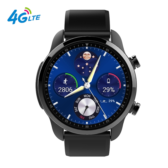 Kospet Brave 1.3'' TFT IPS Quad Core Android 6.0 Dual 4G LTE Smart Watch 16G Memory Heart Rate Blood Pressure IP68 Waterproof.