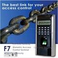 3000 usuários Relógio Biométrico Standalone Leitor de Impressão Digital ZK F7 Teclado de Acesso Biométrico Empregado Relógio IP TCP Sistema Linux
