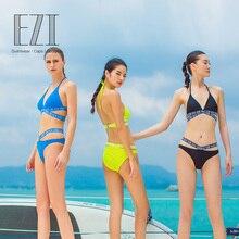 July Sand Sexy Bikini-Set Backless Solid Swimwear Women Summer Beach Wear 2192
