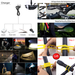 Image 4 - 2020 quente ultra brilhante v6 led lanterna tática luz de alumínio zoomable lanterna tocha lâmpada para 18650 ou 3 * aaa z75