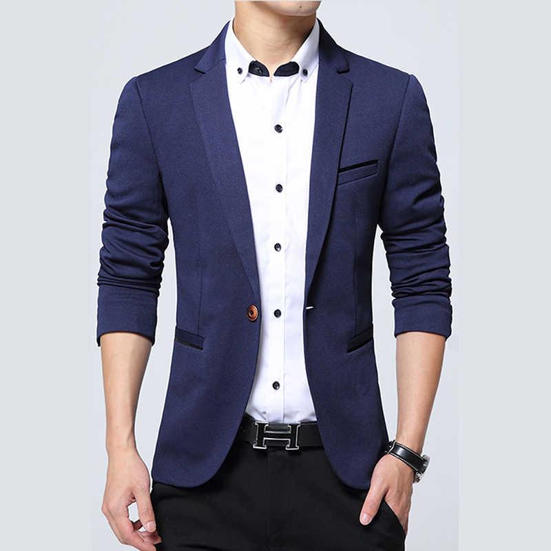 Дропшиппинг Мужской Блейзер Осень Весна роскошный бренд высокого качества Slim Fit мужской костюм куртка сплошной цвет хаки Terno Masculino 4XL