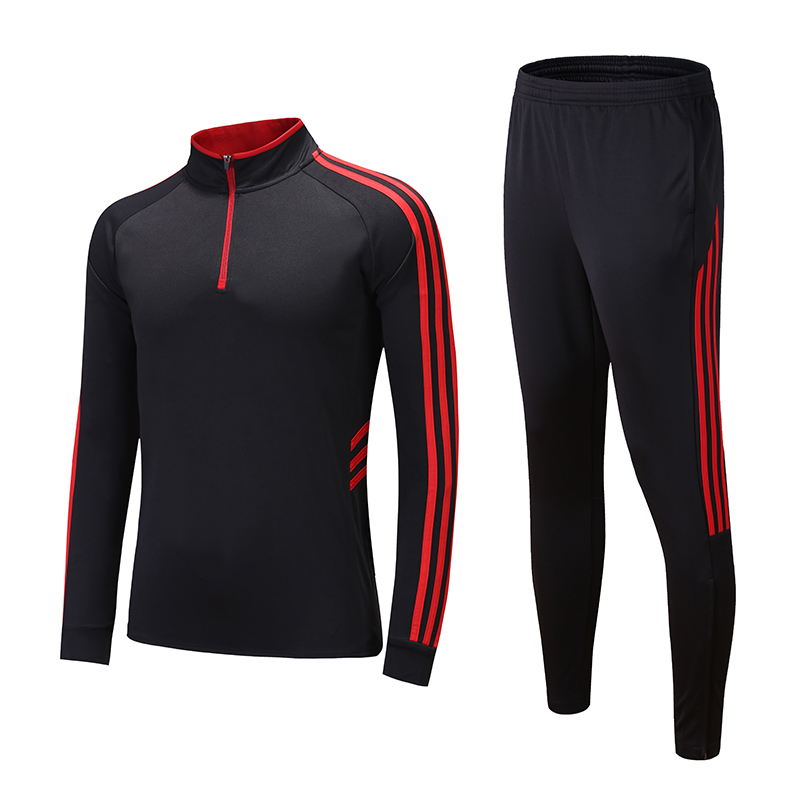 Soccer Jerseys Men Women Kids Football Tracksuit Kits Soccer sweater Sets Running Training Suit zipper Skinny Leg Pants 995