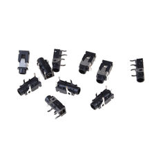 10pcs/lot PJ321 3.5mm Female Audio Connector 4 Pin SMT Headphone Jack Socket PJ-321 PCB Mount Stereo Jack High Qualiy(China)