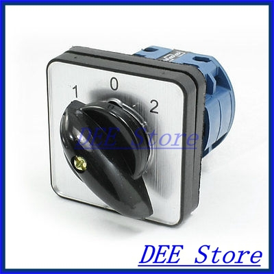 Electric 1-0-2 3 Position 8 Terminals Rotary Cam Changeover Switch 660V 12A ui 660v ith 125a on off 2 position rotary cam changeover switch lw28 125 3