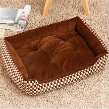 Pet Dog Bed Mats Stripped Pattern Detachable and Washable Beds for Large Dogs Cats House Pad Kennels Animals