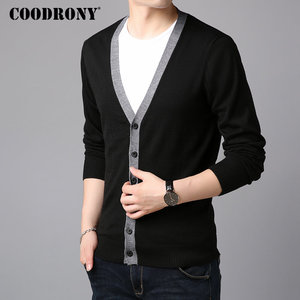 Image 2 - COODRONY Sweater Men Casual V Neck Cardigan Men Clothes 2018 Autumn Winter New Arrivals Knitted Cashmere Wool Mens Sweaters 8258