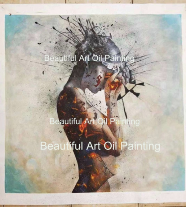 Contemporary Modern Colorful Nude Art Painting Unique Ideas Sexy Woman Body Canvas Oil Painting Wall Decor Painting Calligraphy Aliexpress