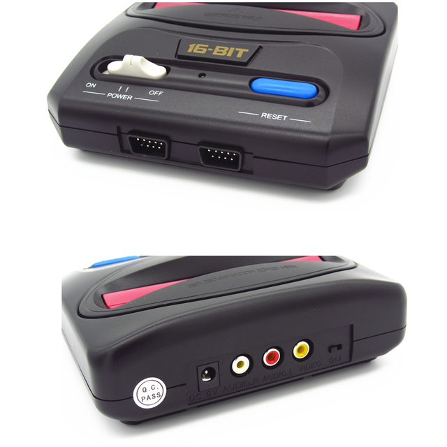 Hight quality 16bit SEGA Genesis/MD compact  mini classic edition TV game console with 64P cartridge solt with 18in1 funny games