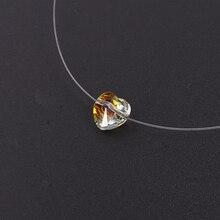 Baffin женское ожерелье с невидимой линией, простое ожерелье с кристаллами в виде сердца от Swarovski, колье с подвеской, прозрачная рыболовная линия, колье для женщин