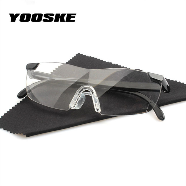 YOOSKE 1.6 Times Big Vision Magnifier Glasses Men Women Reading Glasses Magnifying Presbyopic Eyewear Gift For Needle +250