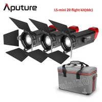 Aputure LS Mini 20 3-Light Kit Two mini 20d and One mini 20c LED Fresnel Light TLCI CRI 96+ 40000lux@0.5m with Battery and Case