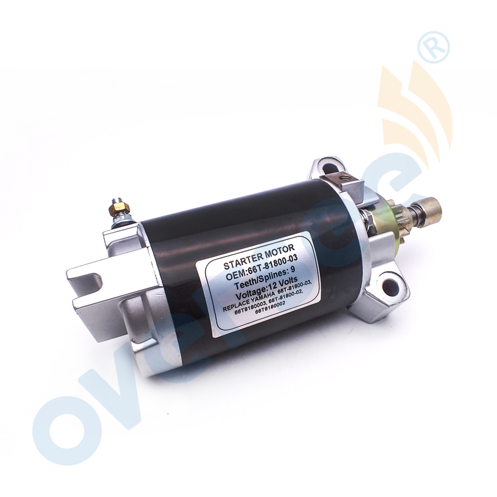 Outboard Starter For 40HP YAMAHA Outboard Engine 66T-81800-03 E40X Enduro Type 66T-81800-00