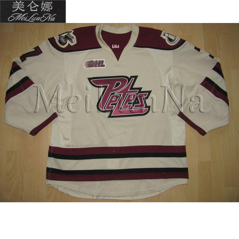 MeiLunNa Custom OHL TPT Peterborough Petes Jerseys 19 Steve Yzerman 11 Jordan Staal 12 Eric Staal Home Road Sewn On Any Name NO. classified peterborough