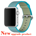 2016 New Colorful Woven Nylon Watch Band For Apple Watch Fabric-like feel Wrist Strap with Metal Adapter for iwatch 38mm/42mm