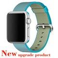 2016 novo colorido tecido nylon watch band para apple watch tecido-como a sensação alça de pulso com adaptador de metal para iwatch 38mm/42mm