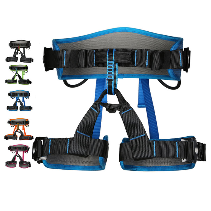 P110 Outdoor climbing seat belts Aerial belts downhill mountaineering safety belt CE Certification new professional safety rock tree climbing rappelling harness seat sitting bust belt safety harness