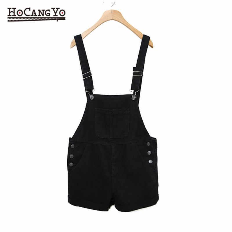 HCYO Плюс Размер 6XL женские Комбинезоны черные шорты на лямках джинсовые комбинезоны женские свободные повседневные Стрейчевые джинсовые женский пляжный костюм с шортами комбинезоны