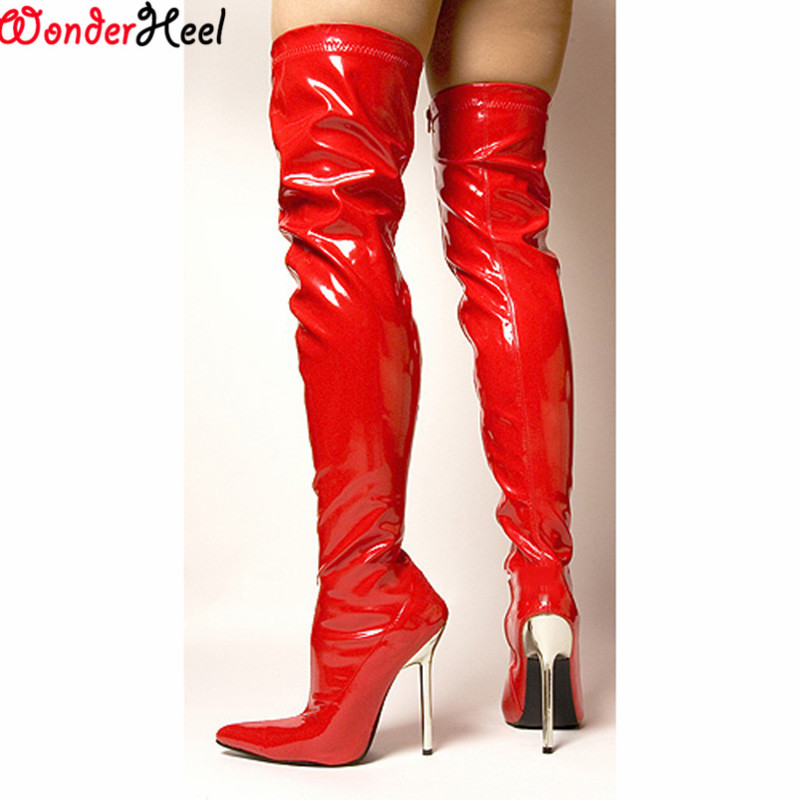 Popular Thigh High Pvc Boots-Buy Cheap Thigh High Pvc Boots lots ...