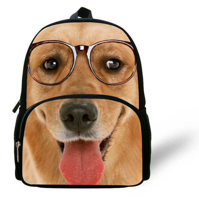 ab2cdd0fa8e5 12inch Mochilas infantis Golden Dog School Backpacks Kids Boys Animal  Backpack Children School Bags For Girls Kindergarten