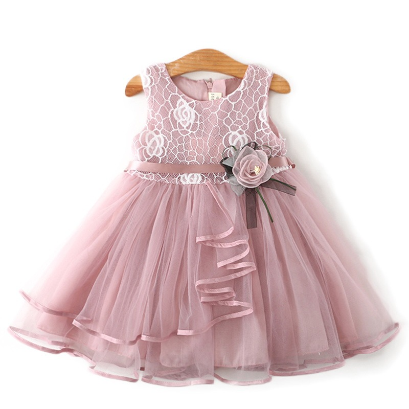 b889568e3a57 Newborn Baby Flower Dress Bebes Party Clothing For 2 6Y Christening Gown  Toddler Petals Decoration Events Birthday Dresses 24M