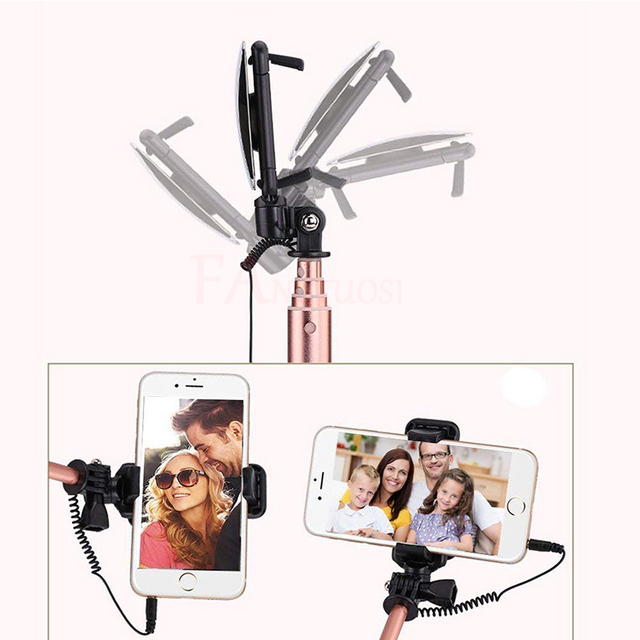 Phone Bluetooth Selfie Stick 3 in 1 Handheld Portable Extendable Monopod For iPhone 6S samsung huawei Mini Tripod With Mirror