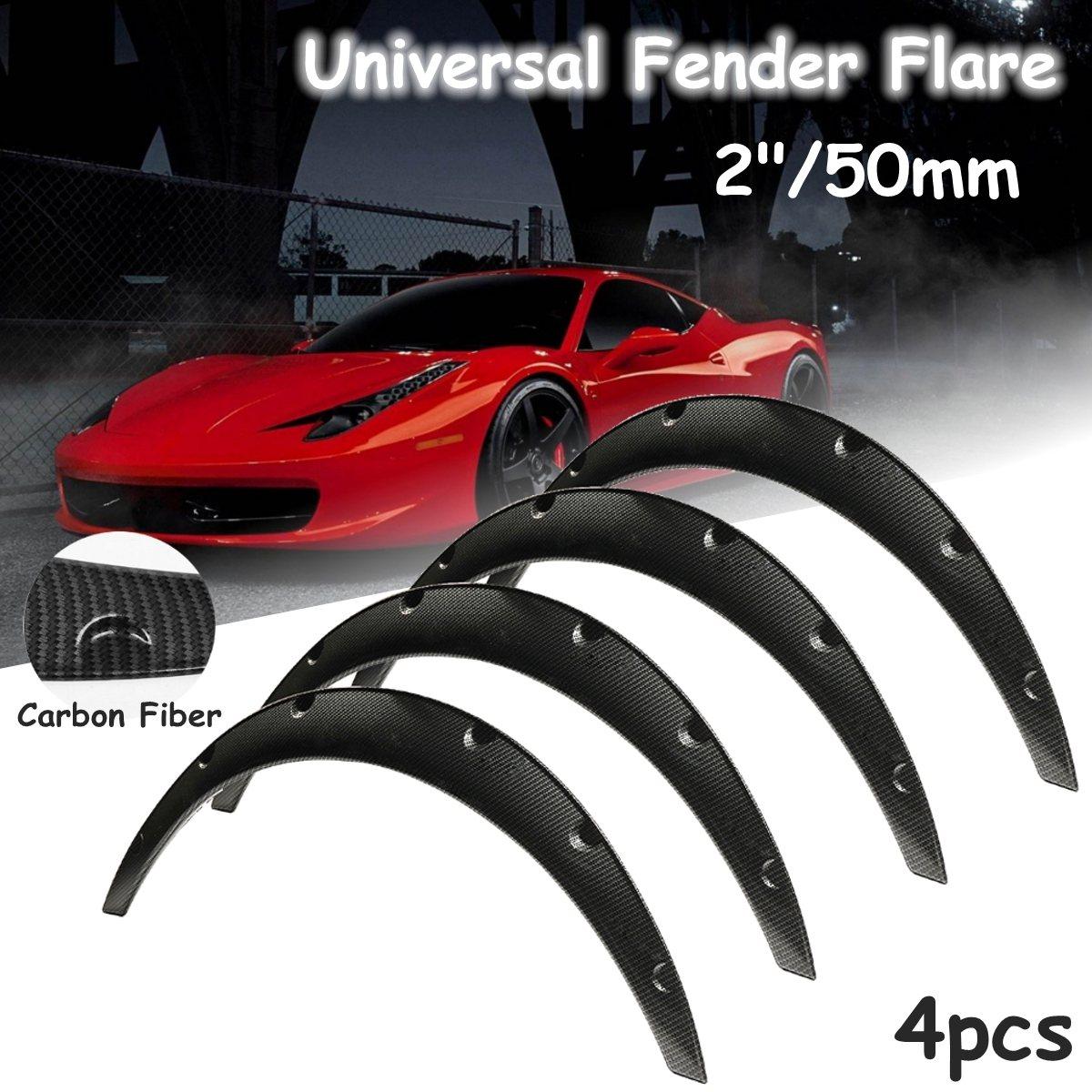 Здесь продается  4Pcs 2inch Universal Carbon Fiber Flexible Car Body For Fender Flares Extension Wide Wheel Arches  Автомобили и Мотоциклы