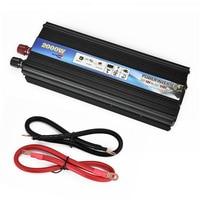 2018 Automobiles Inverter DC 12V AC 110V 50Hz Car Inverter 2000W Solar Power Converter Inverter With USB Port Cooling Fan System