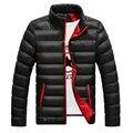 Frío invierno Hombre parka de algodón chaquetas de Los Hombres de cuello alto color sólido Outwear Abajo Chaqueta Acolchada de Algodón Hombre Asiático M-4XL