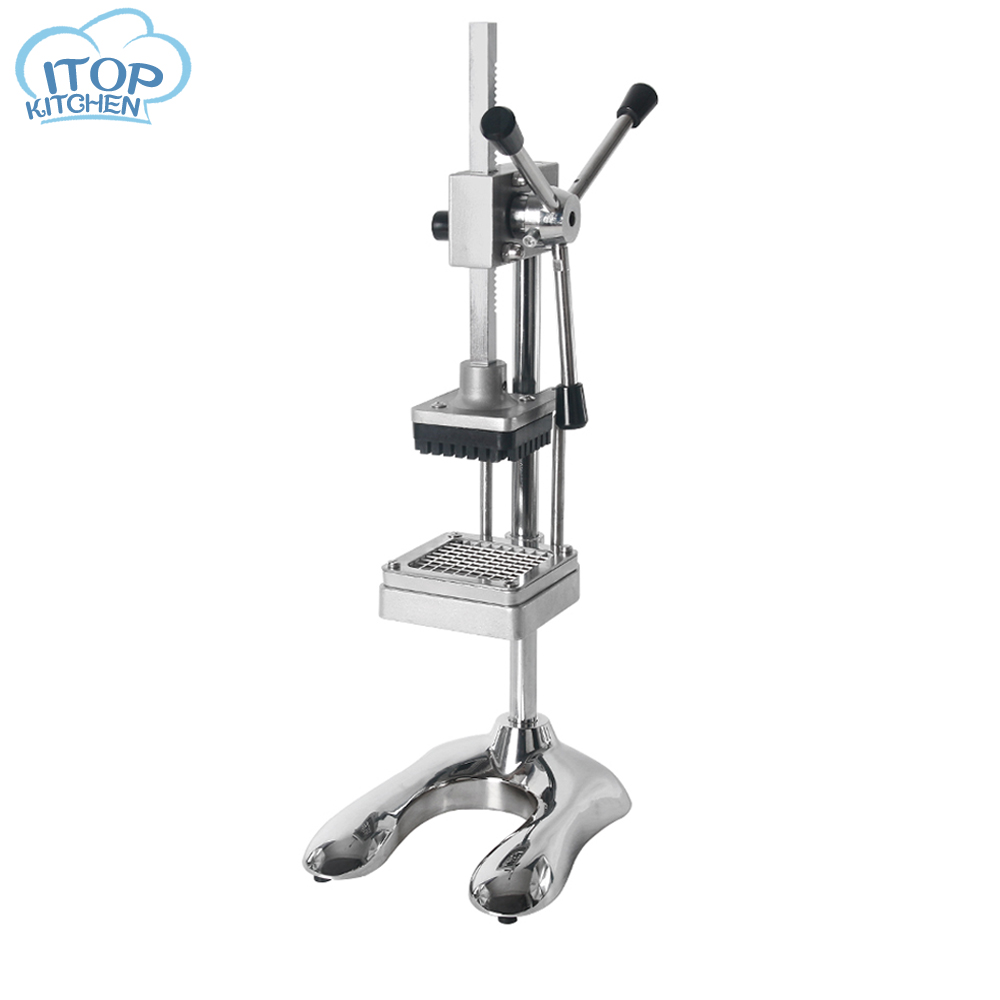 ITOP French Fries Cutter Easy control Vertical Potato Chips Cutter with 8 10 12mm blade Commercial ManuaL Food Processor in Graters from Home Garden