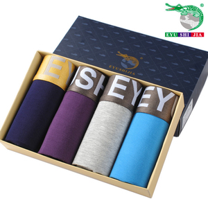 Image 5 - 4 pz/lotto Modaier biancheria intima degli uomini di quattro Shorts in fibra di bambù sottile e traspirante Boxer Shorts installato 4 di sesso maschile mutande taglia 4XL