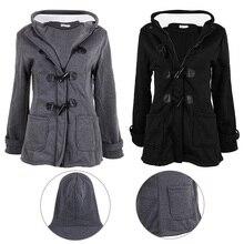 Women's Fashion Windbreaker Outwear Black coat Warm Winter Slim Long Coat Jacket Parka
