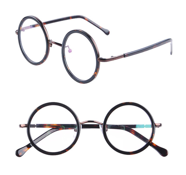 Agstum Small Round Eyeglasses Frame Spectacles Prescription Ready ...