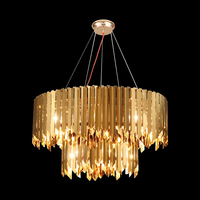 Modern LED Chandelier Luxury Light Double layer Gold Lights Lamp Living Room Hanging Chandeliers Lighting Ceiling Fixtures