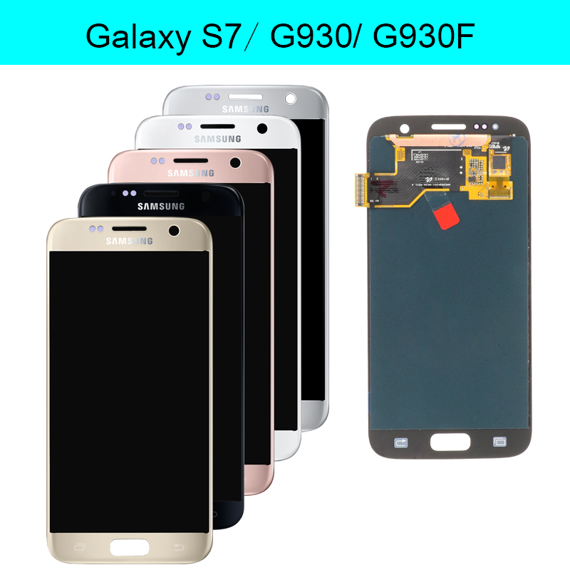 HTB1TY0BNAvoK1RjSZFwq6AiCFXa8 NEW SUPER AMOLED 5.1'' LCD Replacement with Frame for SAMSUNG Galaxy S7 Display G930 G930F Touch Screen Digitizer+service pack