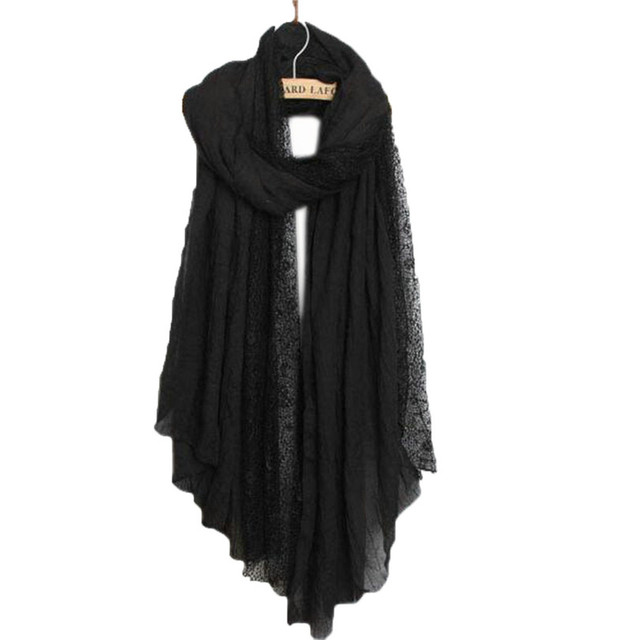 New spring winter Pashmina Ladies luxury brand Ultra Long Gorgeous  lace Scarf