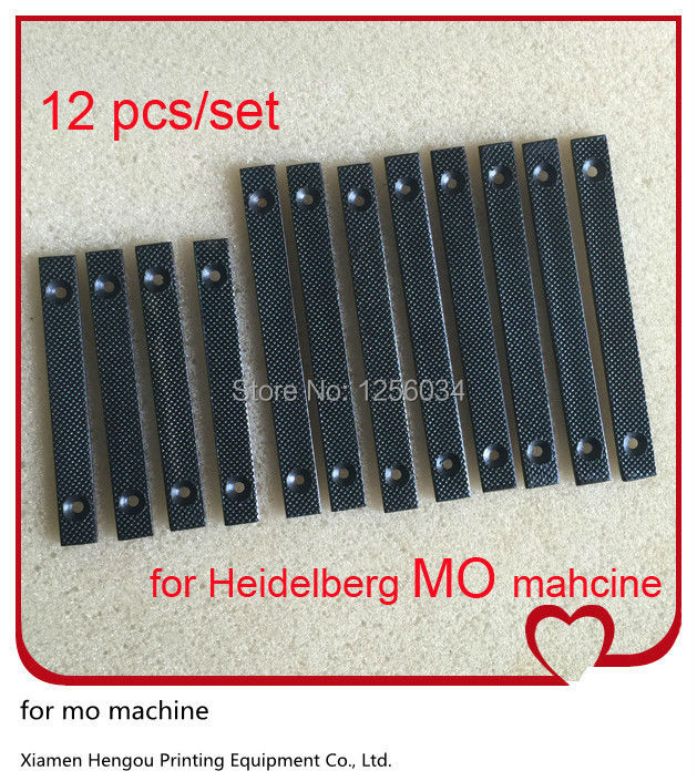1 set=12 pieces heidelberg mo printing machine spare parts prevent slip sheet for PS version clamp