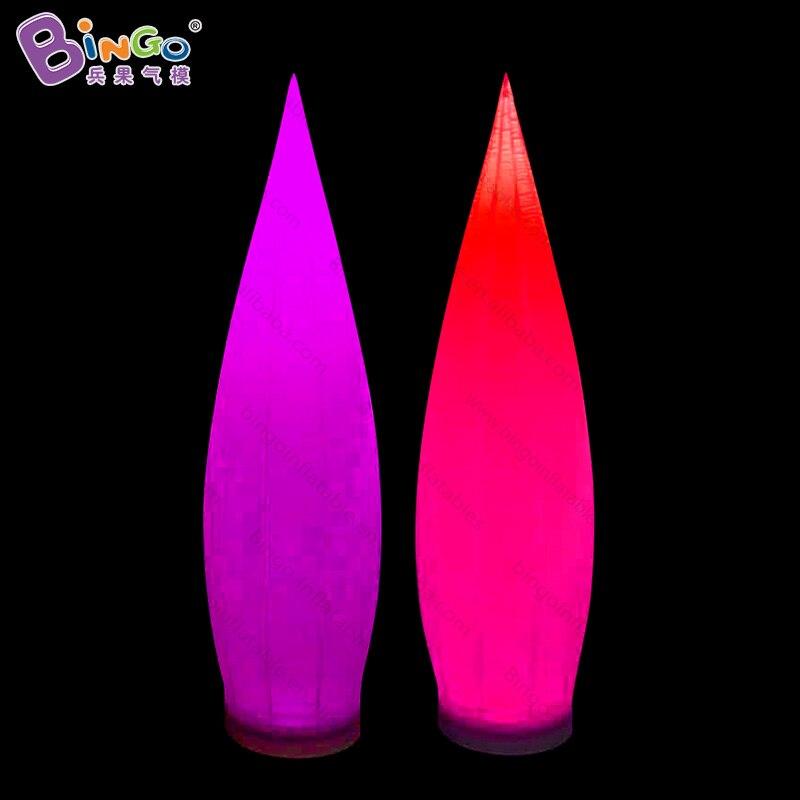 Livraison gratuite 2.5 M haute LED éclairage colonne gonflable offre spéciale personnalisée coloré forme de l'eau pilier pour fête jouet lumineux