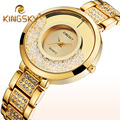Las mujeres de Cuarzo Relojes Mujer Ladies Marca de Lujo Oro Plata Rhinestone Reloj de Mujer Reloj de Diamantes De Imitación