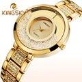 Mulheres Relógios De Pulso de Quartzo Relógios Das Mulheres Senhoras De Luxo Da Marca Ouro Prata Strass Relógio Reloj Mujer Relógio de Diamante Falso