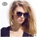 2017 Mulher Marca Designer Rodada óculos de Sol Da Moda Tendência Óculos Retro Mulheres UV oculos gafas de sol