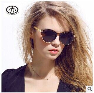 2017 Mujer Diseñador de la Marca Ronda gafas de Sol Moda Gafas de Tendencia Retro de