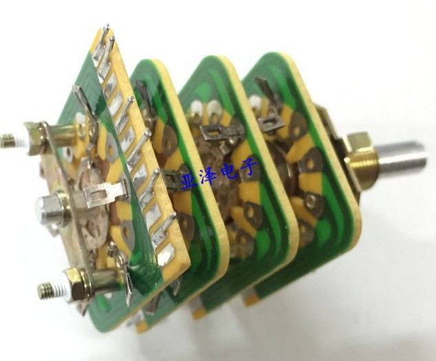 [VK] Japan 9 gear band  toggle rotary switch round shaft 20MM to turn 4 layer 660v ui 10a ith 8 terminals rotary cam universal changeover combination switch