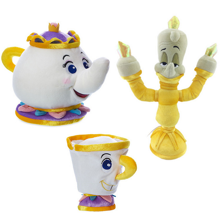 Candice guo plush toy stuffed doll cartoon beauty and beast belle magic teapot teacup baby birthday gift christmas present 1pc