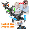 Remote Control FPV Quadcopter Pocket 5cm Mini Smao M1 Transformer Fold RC Drone with Camera Realtime Transmission Helicopter Toy