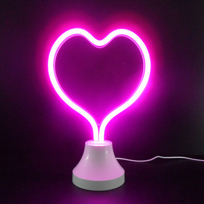 Jiaderui LED Neon Strip Night Light Sculpture Glass Tube Garland Light Home Decor Lighting Table Lamp Baby Bedroom Sleeping Lamp