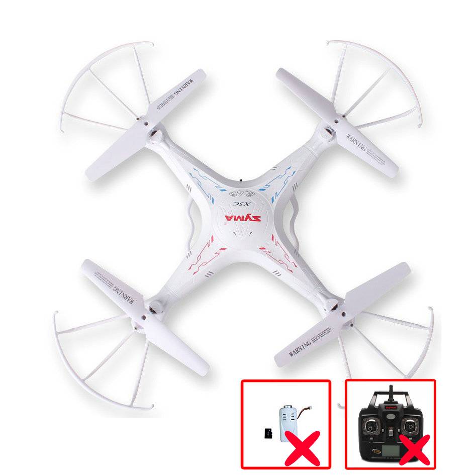 Original SYMA X5C X5C-1 4CH 6-Axis Gyro Remote Control RC Quadcopter Toys Dron Without Camera & Transmitter BNF Freeshipping