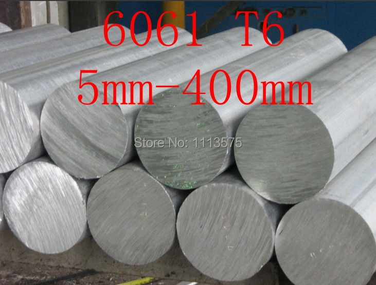 5mm-400mm 6061 T6 Al Aluminium Solid Round Bar Rod